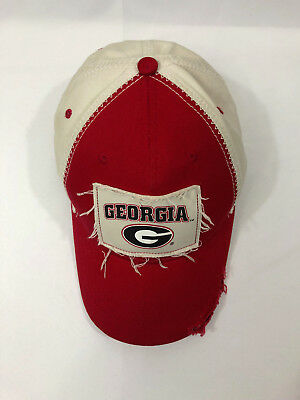 cheaper 7897e 21d15 Georgia Bull Dogs Joe T s Sportswear by The Game Distressed Red Baseball Cap  Hat
