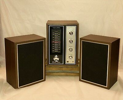 Vintage Realistic Receiver Stereo Three Cat No. 12-1451 with Bookshelf Speakers