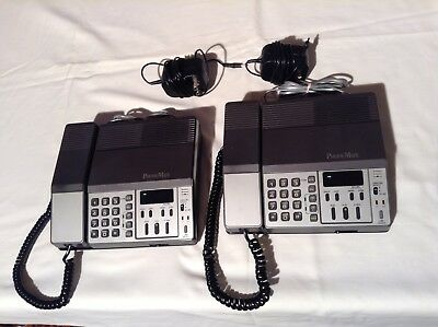 Two ( 2 ) Phone Mate Answering Machine ( 2 Line ) Office