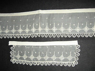 LP30 Antique Crochet Lace Collar Cuff Victorian Sheer Bridal Applique