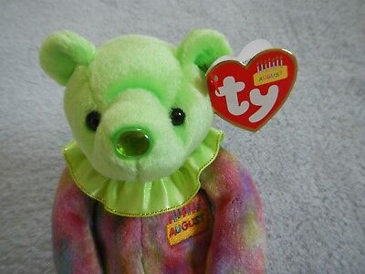 August Birthday Bear - Ty Beanie Baby - Birthstone Nose  Peridot - Pot Belly f4fc6d811655