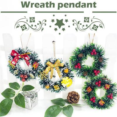 Christmas Small Wreaths Garlands Wall Door Hanging Ornament Xmas Home Decor
