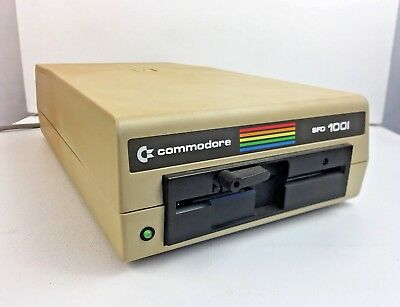 Vintage COMMODORE SFD 1001 - Floppy Disk Drive - Tested / Works