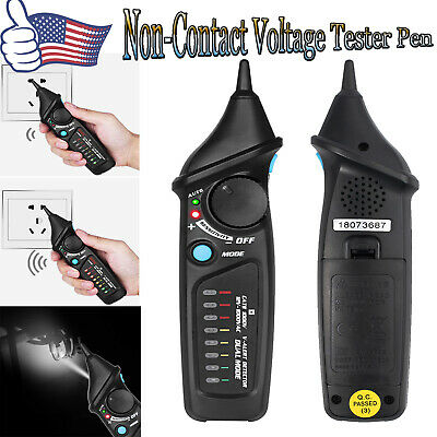 Live-Wire Tester Pen Flashlight NonContact AC Voltage Detector Electrical Tester