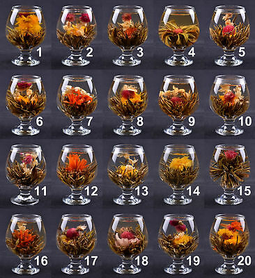 Lot of 20 Kinds Handmade Blooming Flower Tea Beautiful Herbal Balls Wedding Gift
