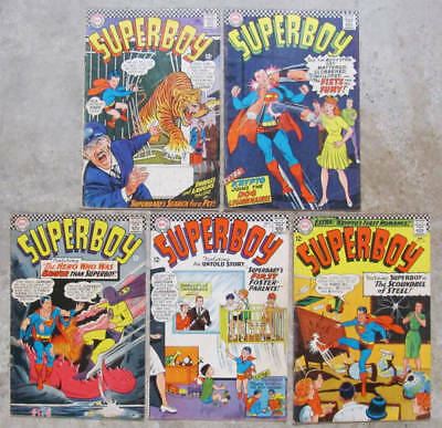 Five 1966 SUPERBOY comic books #130 - #134 All Very Good+