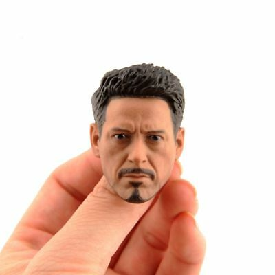 "1/6 Iron Man Tony Stark Carved Head Sculpt Model F 12"" Action Figure Body Dolls"