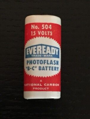 Vintage Eveready Trade-Mark Battery No.504, 15Volt -Used- Condition Unknown