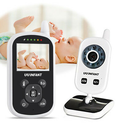 Digital Video Baby Monitor with Infrared Night Vision Two Way Talk Back Lullabie