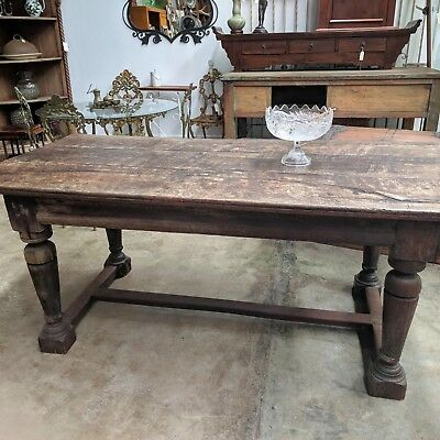 Antique Oak Refractory Dining Table