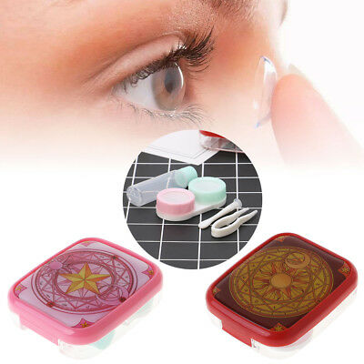 Contact Lens Box Cartoon Portable Holder Travel Case Eyes Care Container Storage