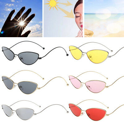 2018 New Design Cat Eye Sunglasses Metal Frame Fashion Women Men Eyewear Mirror