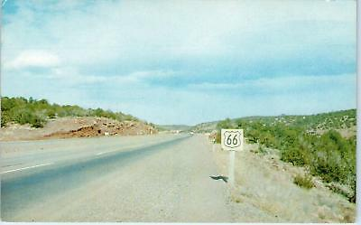 MORIARITY, NM New Mexico  ROUTE 66 Scene Old Sign  c1950s   Roadside    Postcard