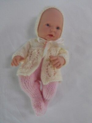 """Hand knitted dolls clothes (Three piece set) fit 9.5-10 inch """"Lovely Baby"""" doll"""