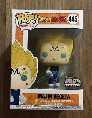 Funko Pop NYCC 2018 Over9000.com Exclusive MAJIN VEGETA Dragon ball Z SIGNED