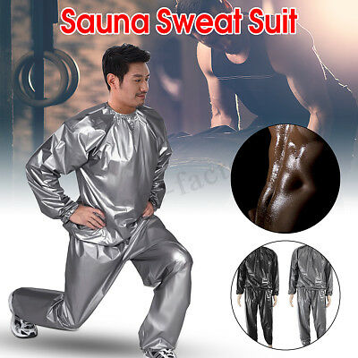 Heavy Duty Sweat Sauna Suit Fitness Exercise Yoga Weight loss Training Anti-Rip