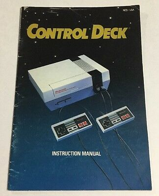 NES Control Deck Instruction Manual Booklet Only Nintendo Console System SMALL