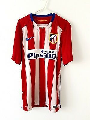 Atletico Madrid Home Shirt 2015. Small Adults. Nike. Red Short Sleeves Top Only.