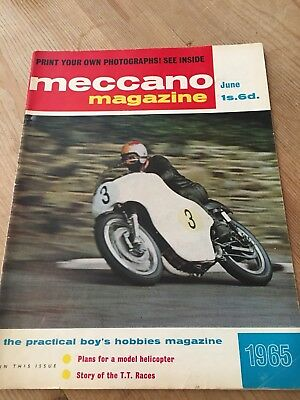 Meccano Magazine June 1965-Isle Of Man Tt Race Cover & Feature-Beatles Dinky Ad