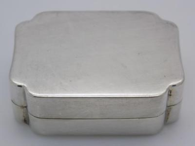 Vintage Solid Silver Italian Made Pill / Snuff Box, Stamped, Closes Well