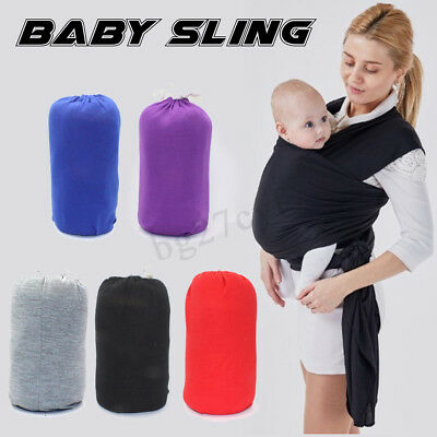 Baby Sling Stretchy Adjustable Wrap Cotton Carrier Infant Breastfeeding Newborn