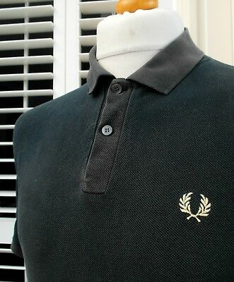 Fred Perry 1970's Black Pique Polo - XXL - Mod Ska Scooter Casuals Vintage Skins