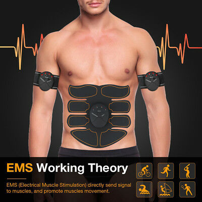 ABS Muscle Toner Abdominal Toning Belt EMS Trainer Wireless Body Gym Workout MT