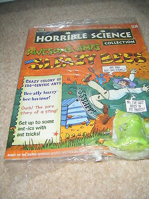 NOS new Horrible Science mag 28 ants, sleazy bees + cards school homework bbc tv