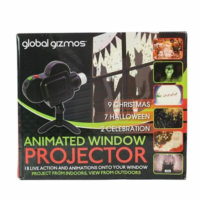 Christmas Halloween Animated Window Projector | Party Home Indoor Event