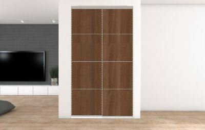 2 Sliding Wardrobe doors. Opening up to 1195mm. 40 options from £195.30 inc del.
