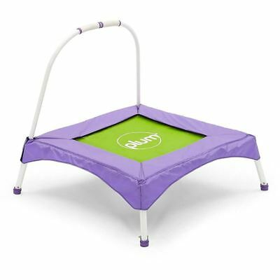 Plum My First Bouncer Childrens Trampoline with Balance Handle Purple and Green