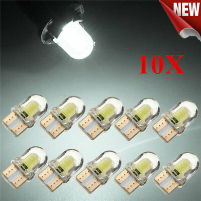 10X LED T10 8SMD CANBUS 194 168 W5W COB Silica Bright White License Light Bulb Y