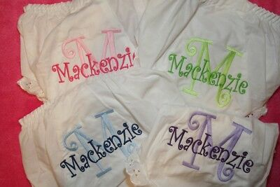 Personalized Monogrammed Set of 4 Diaper Covers  Bloomers Newborn - 4T