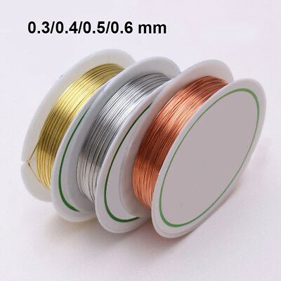 0.3/0.4/0.5/0.6mm Gold Silver Plated Copper Wire Beads-Jewelry