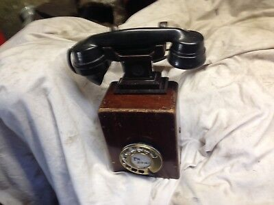 Vintage Phone Box & Handset ( Dictorgraph )  English & Looks Gc Inside & Out