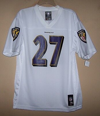 6e596bf2e2f Youth XLarge 5983 BALTIMORE RAVENS White Football Jersey #27 RAY RICE Team  NFL