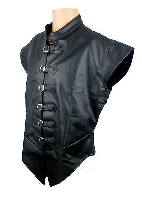 """LARP Doublet Faux Leather, Medieval, Fancy Dress, Cosplay 36"""" to 44"""" Chest"""