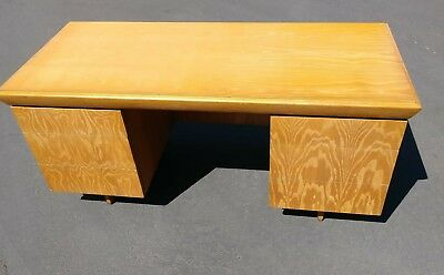 Mid Century Modern Desk Executive Office Paul Laszlo for Brown Saltman  Vintage