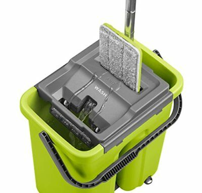 CleanUP Complete Wash And Dry Flat Mop And Bucket Cleaning System. REVOLUTIONARY