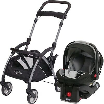 Graco Snugrider Elite Lightweight Stroller/Car Seat Carrier (Black)