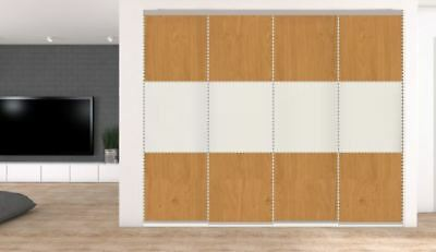 4 Sliding Wardrobe doors. Opening up to 3581mm. 32 options from £589 inc del.