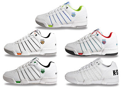 K Swiss Gstaad Classic Leather Retro Fashion Trainers From Only £24.99 FREE P&P
