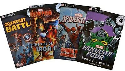 Marvel Readers Collection - Fantastic Four / Iron Man / Spiderman (4 book set)