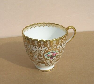 Antique 19th Century Handpainted & Gilded Porcelain Cup.