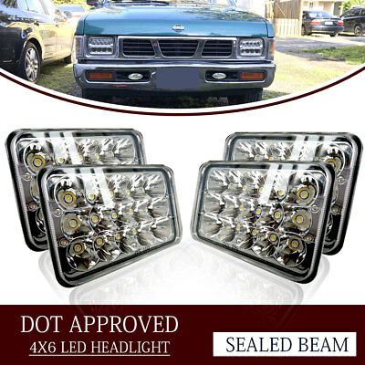 "4PCS Dot Approved 4x6"" LED Headlights Replacement for H4651 H4656 H4666"