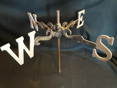 Old Vtg Weather Vane N S E W Rustic Decor' Farm House Barn Metal 12""