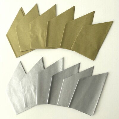 12 Pearlescent Gold / Silver  Mixed Cracker Hats Christmas / Party