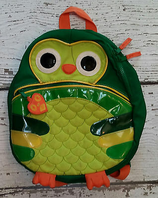 BABY GAP Girls Green Orange Owl Preschool Toddler Backpack