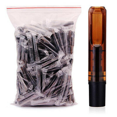 20PCS Reusable Reduce Tar Smoke Tobacco Filter Cigarette Holder Brown Color US