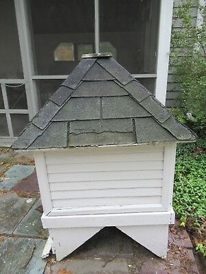 "Vintage Salvage Vented Wood Roof Cupola 30"" x 30"" x 46 3/4"""